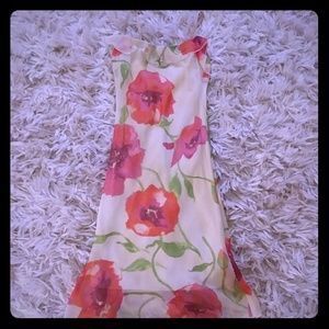 Delicate sheer overlay flowered dress